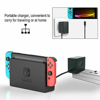 AC Adapter Power Supply Wall Charger For Nintendo Switch Dock & Pro Controller 2