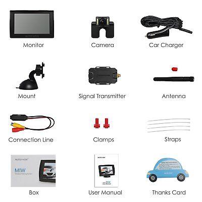 AUTOVOX M1W Wireless Parking Backup Camera + 4.3'' TFT LCD Rear View Monitor 9