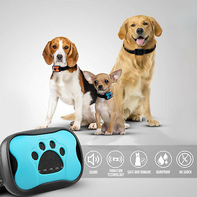 Dog Bark Collar Training Electric No Shock Anti Barking with LED Light 3 Shell 2