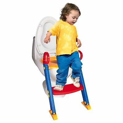 Baby Toddler Training Toilet Seat Safety Potty Step Ladder Loo Trainer System 2
