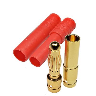 verpolsicher bis 20A 10 Stück 2 mm HXT Goldsteckverbinder mit Gehäuse