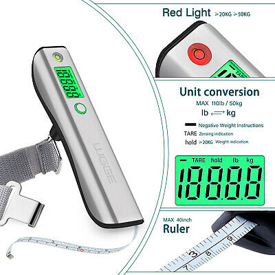 Digital Luggage Scale, WGGE Travel Luggage Weight Scale, Max 110lbs/50kg Baggage 3