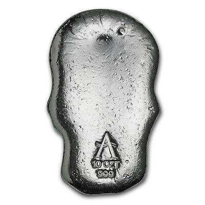 10 oz Silver Skull - Atlantis Mint - SKU #152274 2