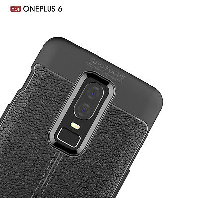 Dooqi Ultra Thin Luxury PU Leather Soft TPU Shockproof Case Cover For OnePlus 6 5