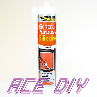 General Purpose Silicone 80 ml or C3 310 ml Sealant Clear White Brown Black Grey 4