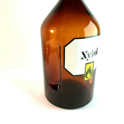 (m121)  2l Liter Flasche Apotheke Labor Stopfen 29 cm 2000ml XYLOL label 4