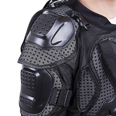 Black Body Armour Motorcycle Motocross Dirt bike MX Pressure Suit Kid/Adult Size