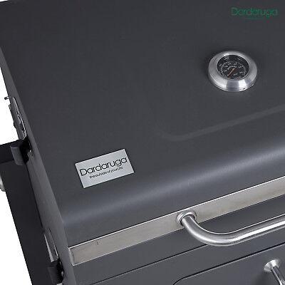 Bbq Barbecue Grill Griglia Xxl A Carbone Carbonella Con Ripiano E Affumicatore 5