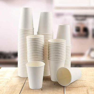 12oz Disposable Single Wall White Paper Cups for Hot Drinks Tea , ECO - FRIENDLY 3