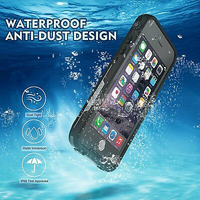 For Apple iPhone 6s 6 Plus Waterproof Case Cover w/ Built-in Screen Protector 2