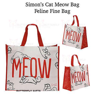SIMON/'S CAT PINK COTTON REUSABLE ECO TOTE SHOPPER SHOULDER SHOPPING BAG BNWT