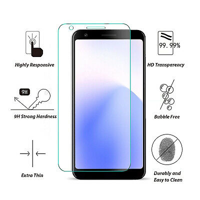 Google Pixel 3A XL 3AXL 9H Premium Full Cover Tempered Glass Screen Protector 2