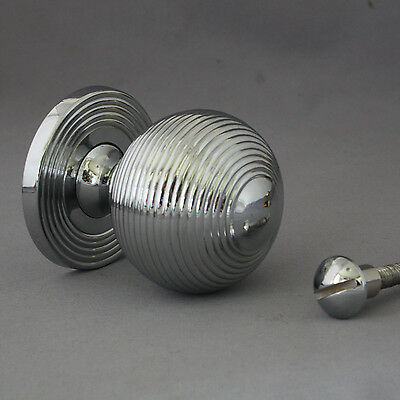 Chrome Beehive Front Door Pull 4