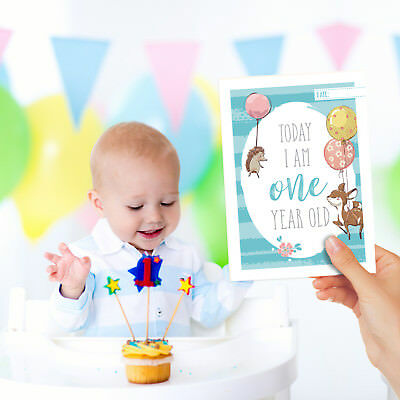 25x Baby Milestone Cards ~ 1st Year Memorable Moments Boy Girl or Unisex 5