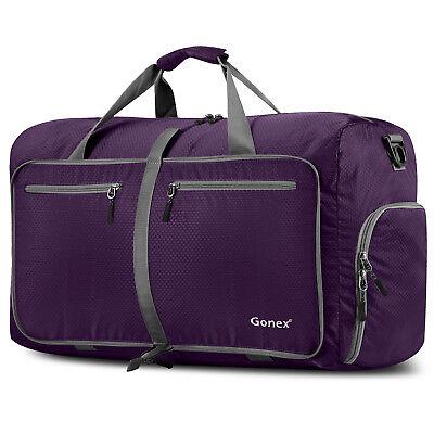 Gonex 80L Travel Duffle Bag Foldable Tear Resistant Carry-On Luggage Bag Storage 7
