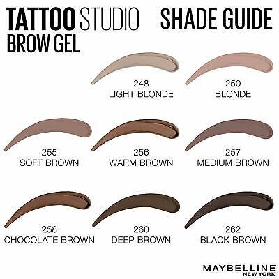 Maybelline Tattoo Studio Waterproof Brow Gel ~ Choose From 8 Shades! 2