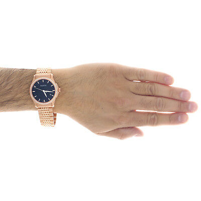 b401c436eaf ... Gucci Ya126402 Diamond Watch Black Dial 38mm Stainless Steel Rose PVD  1.75 Ct. 10