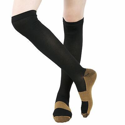 6 Pairs Copper Fit Energy Knee High Compression Socks, SM L/XL XXL Free Ship USA 11