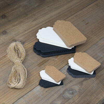 ECO KRAFT Paper Gift TAGS Card Label | Free string | 100 Per Pack | UK Seller 2