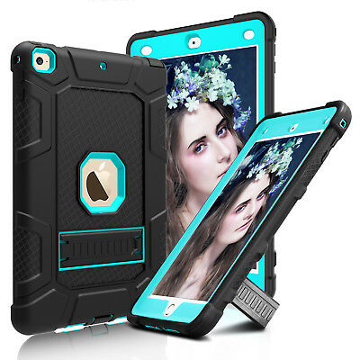 For iPad 5th/6th Gen 2018 9.7 inch Tablet Stand Hard Case Cover+Screen Protector