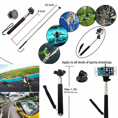 Accessories 216pcs Pack Case Chest Head Floating Monopod GoPro Hero 7 6 5 4 3+2 4