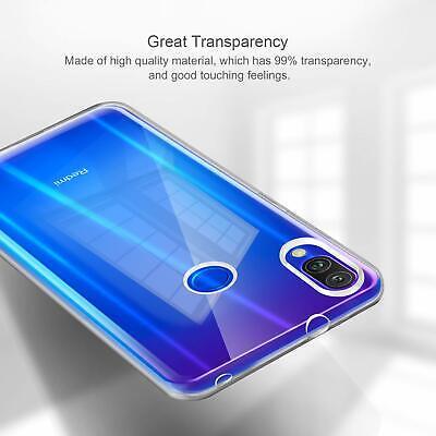 Cover Custodia + Pellicola Vetro Temperato Per Xiaomi Redmi Note 7 Trasparente 2