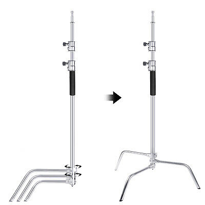 Neewer Upgraded Heavy Duty Stainless Steel C-Stand with Hold Arm and Grip Head 5