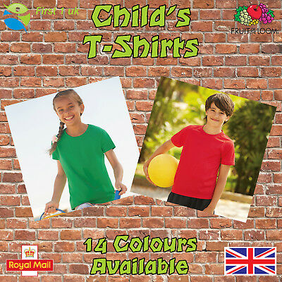 Kids Plain t Shirts fruit of The Loom Children's Youth T-Shirts Childs Tee Shirt 3