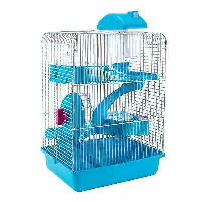3-Tier Hamster Cage Small Rodent House Gerbil Mice Mouse Cages Animal Play Home 5