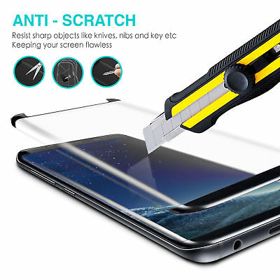 Samsung Galaxy S9 S8 Plus Note 9 8 Full Cover Screen Protector Tempered Glass 7