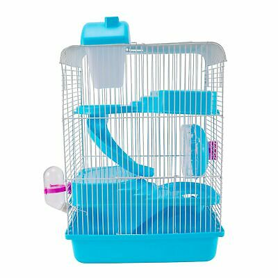 3-Tier Hamster Cage Small Rodent House Gerbil Mice Mouse Cages Animal Play Home 6