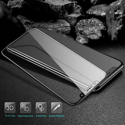 For iPhone X 7 8 Plus Xs Max XR Full Coverage Tempered Glass Screen Protector 2
