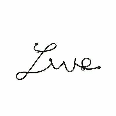 Live Love Laugh Set Of 3 Black Metal Wall Art Mount Sign