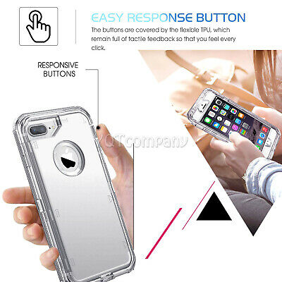 Fit Apple iPhone Clear Transparent Shockproof Protective Armor Heavy Duty Case 9
