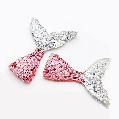 10pcs/lot kawaii resin mermaid tail DIY flatback resin cabochons accessories 5