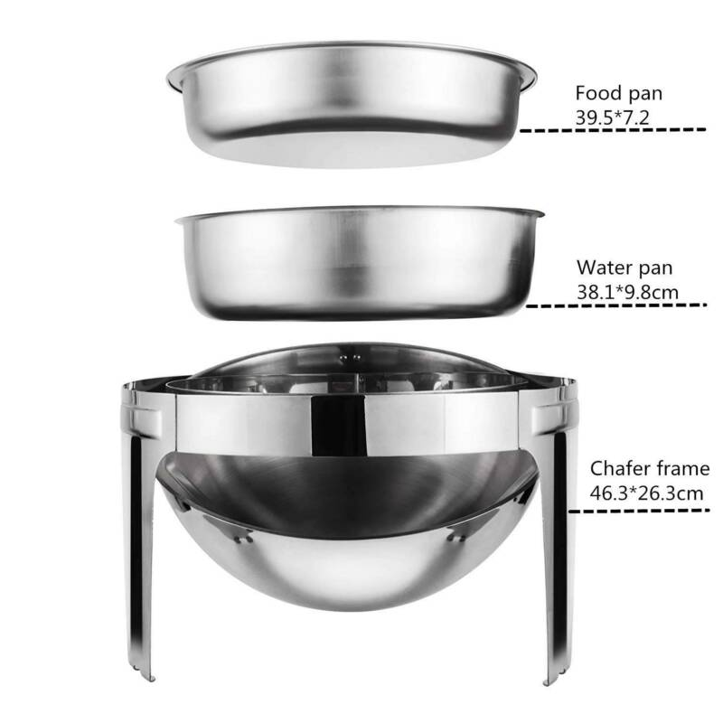 Multi Stainless Steel Bain Marie Chafing Dishes Buffet Food Warmer Pan Heater AU 10