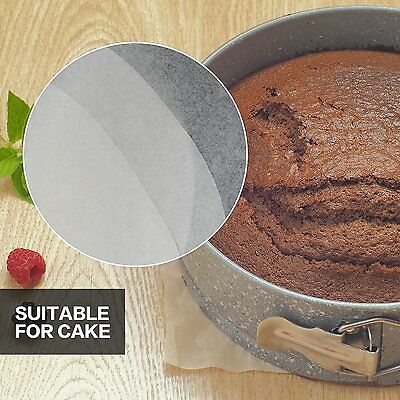 """50 X 18cm (7"""")  Non Stick Round Greaseproof Parchment Paper Cake Tin Liners"""