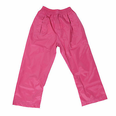DRY KIDS Waterproof Over Trousers Rain Children Boys & Girls Childs age 2-13 2