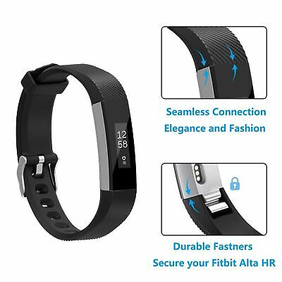 Wristband For Fitbit Alta HR Ace Secure Fitness Bracelet Strap Watch Wrist Bands 7