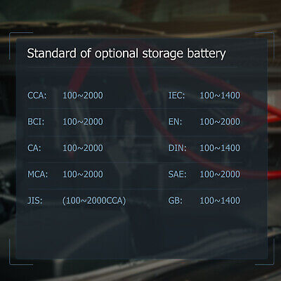 ANCEL BST100 12V 220Ah 2000CCA Battery Load Tester Vehicle Battery Analyzer Tool 8