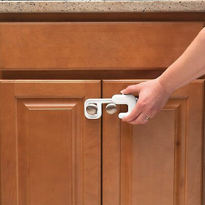 2 Pack Safety 1st Secure Mount Cabinet Lock Installs on Knobs or Handles - 72347 4