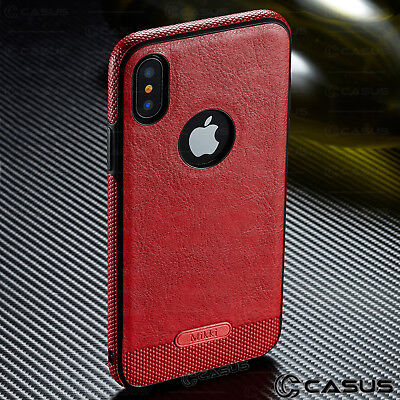SLIM Luxury Leather Back Ultra Thin TPU Case Cover for iPhone X & 8/7/6s Plus 7