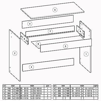 Schreibtisch EICHE WEISS 289 Schublade Computertisch PC-Tisch Kinderschreibtisch