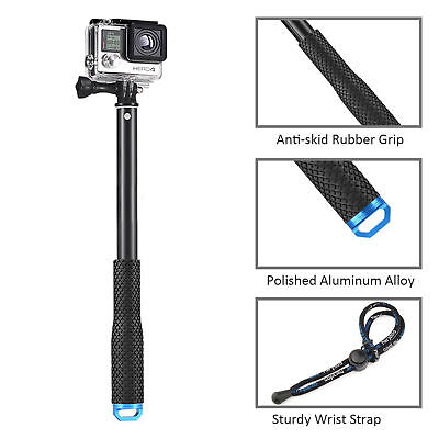 """36"""" Waterproof Extension Pole Selfie Stick for GoPro Hero/Session 6 5 4 3+ 3 2 1 2"""