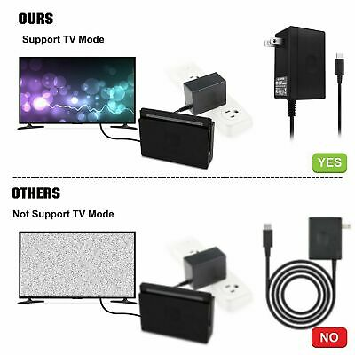 AC Adapter Power Supply Wall Charger For Nintendo Switch Dock & Pro Controller 7