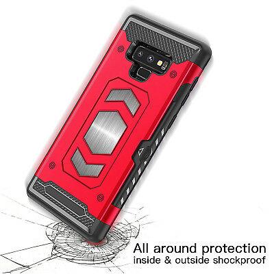 Body Armor Fits Samsung Galaxy Case Card Holder Slot for Magnetic car Mount 9