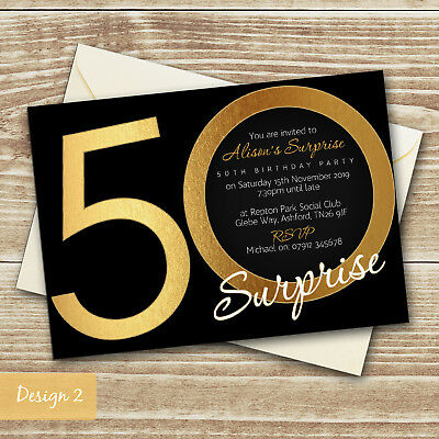 12x Personalised Surprise Birthday Party Invitations Top Secret Photo File H0391