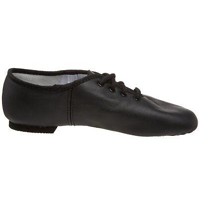 JAZZ DANCE SHOES Black unisex Leather split suede sole pumps irish hard jig (CC) 8