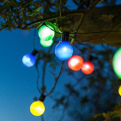 16er Led Solar Party Lichterkette Garten Lichter Außen Beleuchtung
