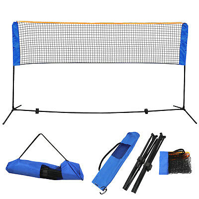 10 Feet Portable Badminton Volleyball Tennis Net Set with Stand/Frame Carry Bag 8